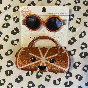 New! Wonder Nation | Orange Sunglasses & Case Set
